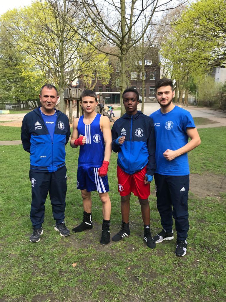Foto Dortmund Körne v.l. Mahmut Kurukafa, Altin Murati, Ezequiel Augusto und Rezgar Shamo